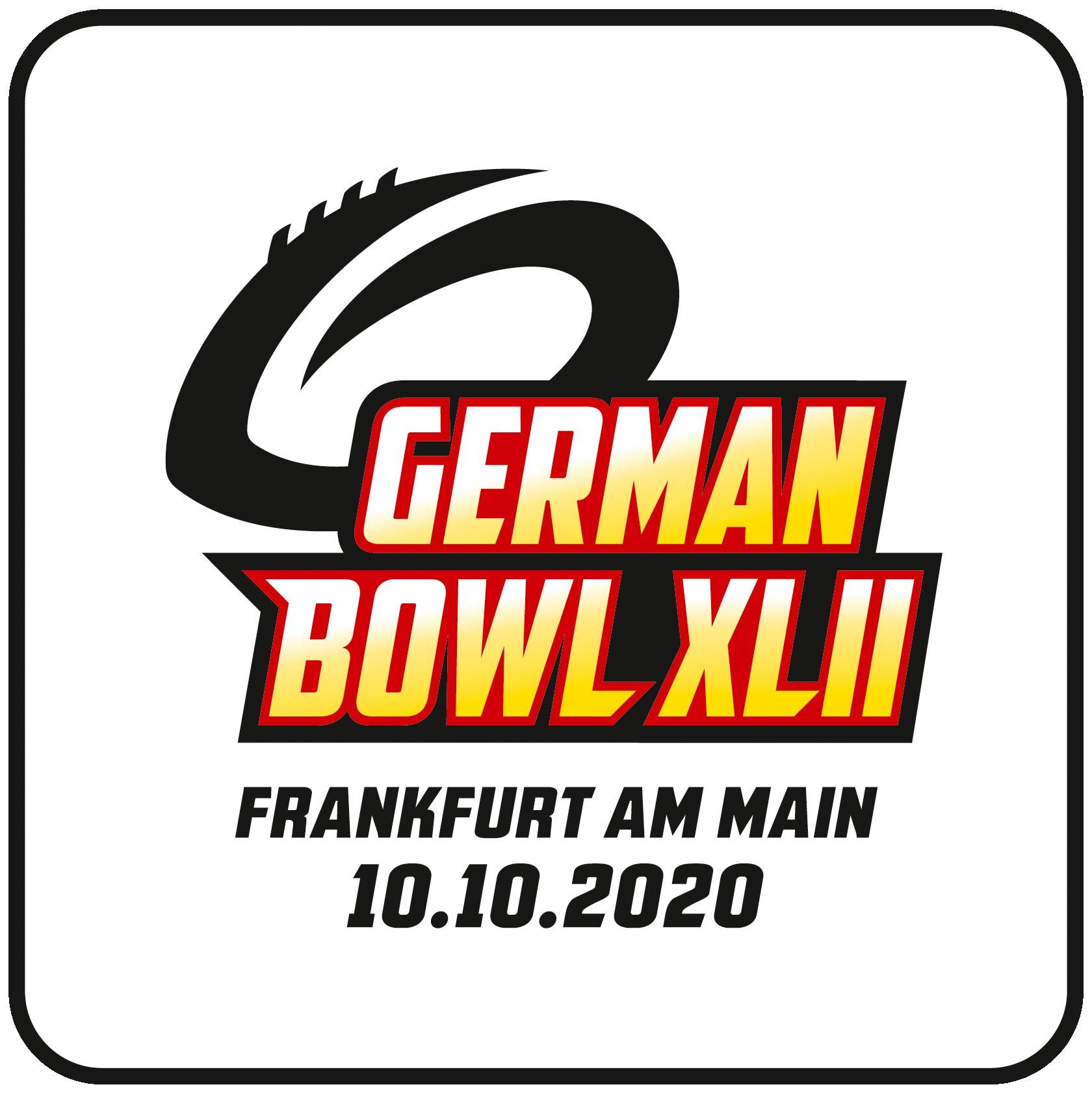 German Bowl XLII Logo Weiß Datum