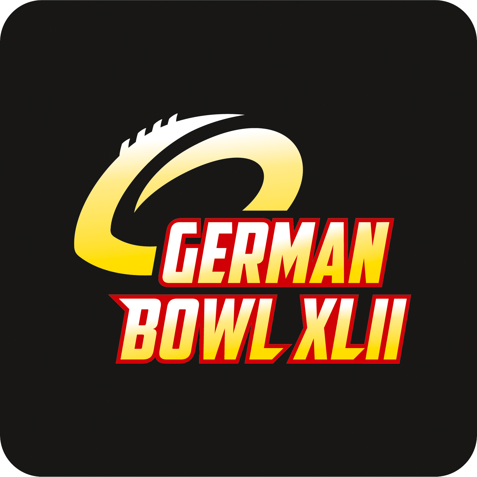 German Bowl XLII Logo Schwarz