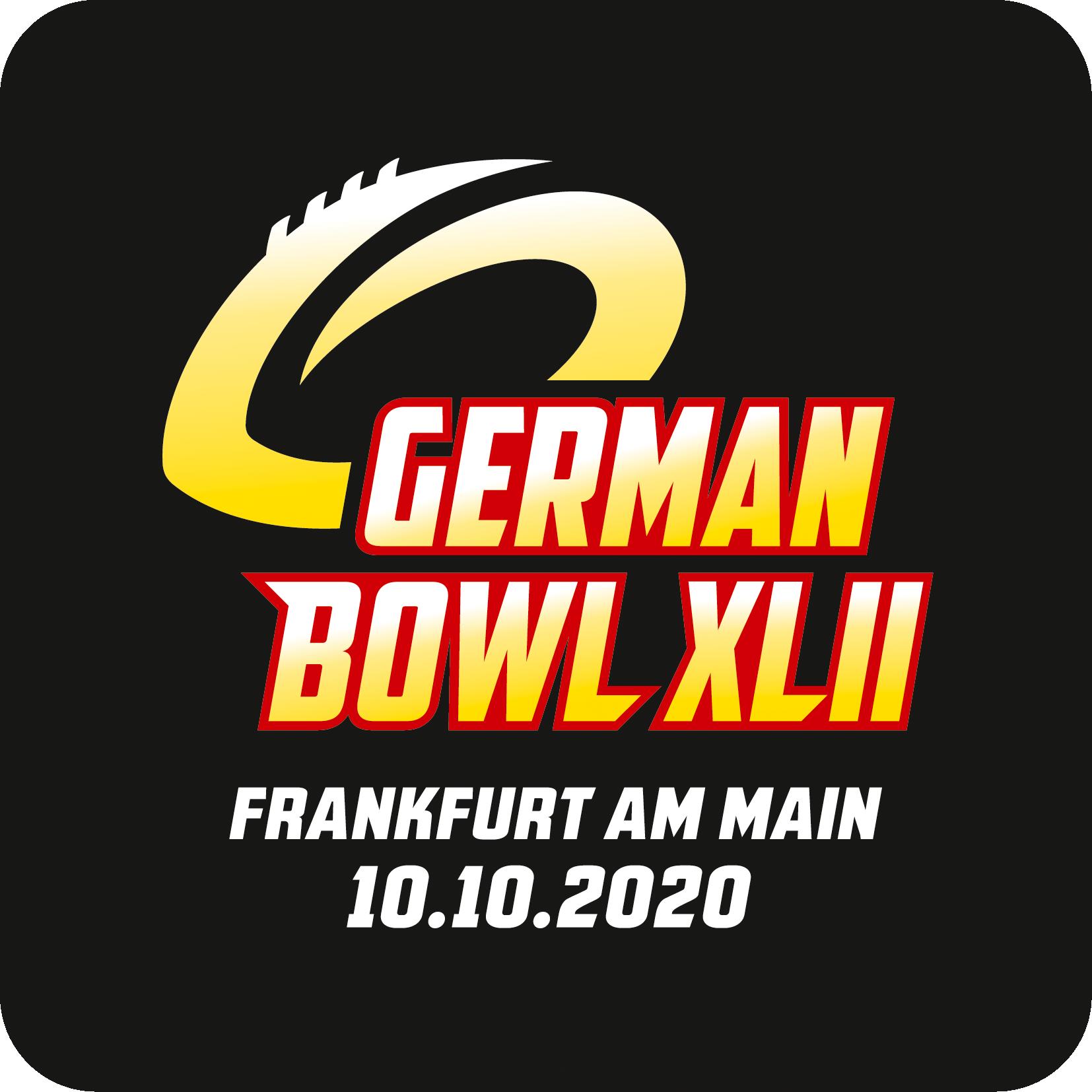 German Bowl XLII Logo schwarz Datum